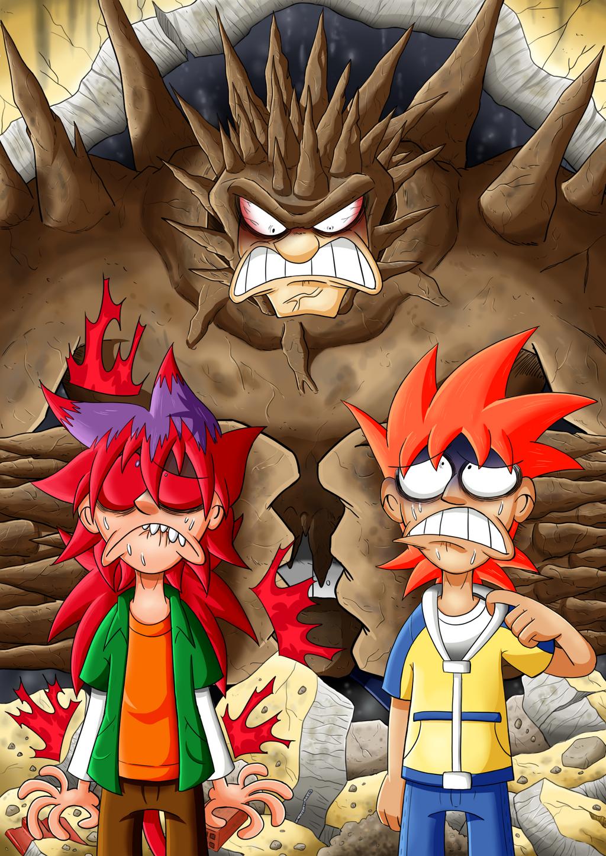 Norman y Ran vs Halber by Kibaro-Kun