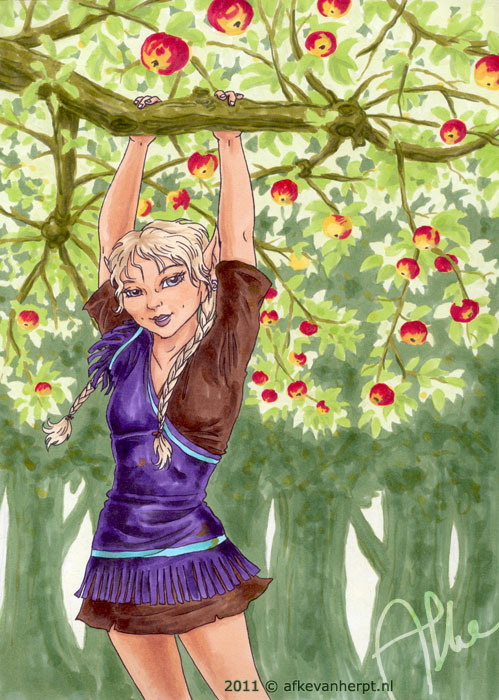 Zoetgras in the orchard by afke11