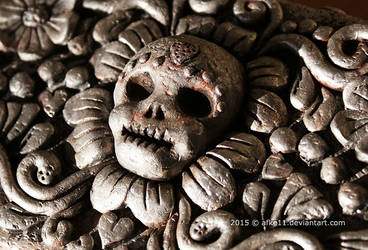 Lotje's Memory Box - Skull detail by afke11