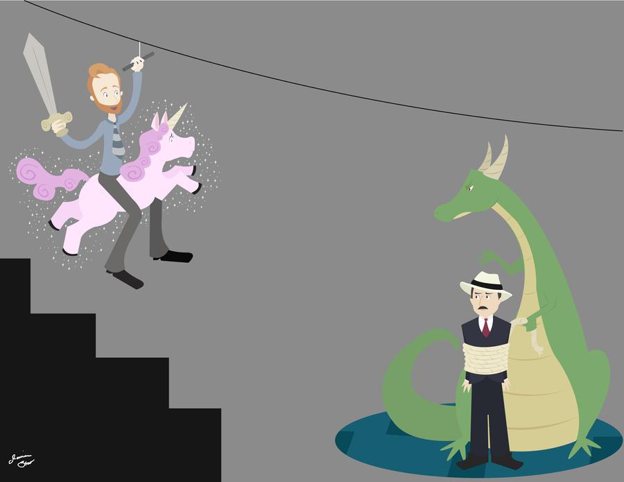 Conan O'Brien Zip Line idea by JessicaElephant