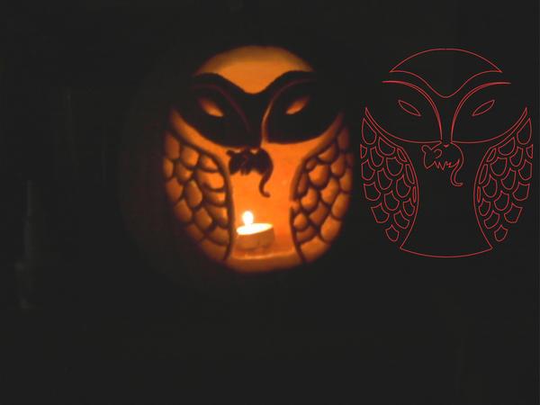 Owl Pumpkin by JessicaElephant