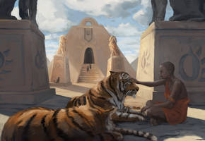Temple Cats by Jstiller30
