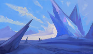 Stream Paint (sketch?)- Snowy Ice