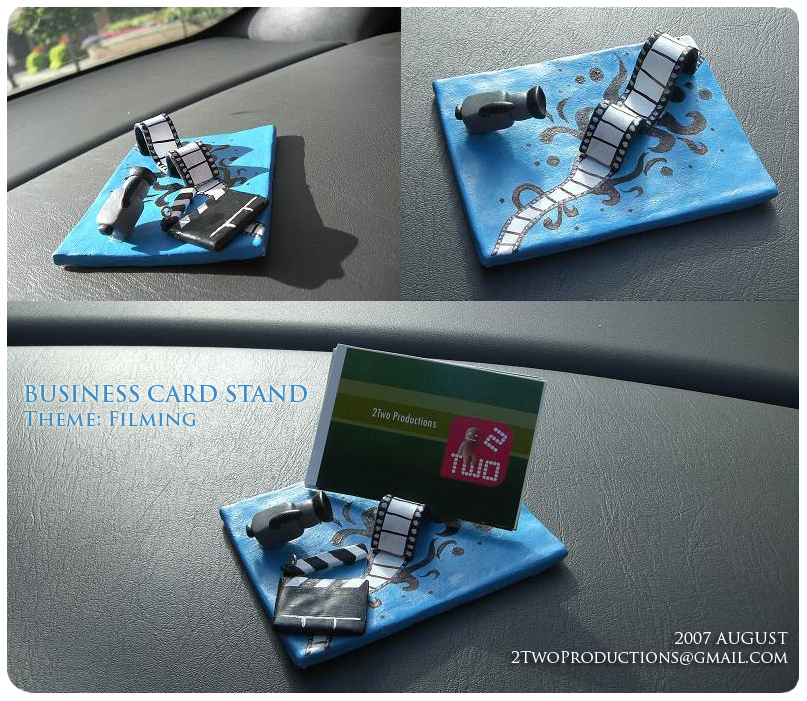 custom business card stand by 2twoproductions on deviantart
