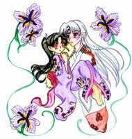 Kagura and Sesshomaru by KagomeHikari