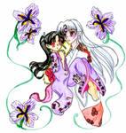 Kagura and Sesshomaru