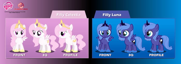 Filly Luna and Celestia Puppet Rigs v1.0