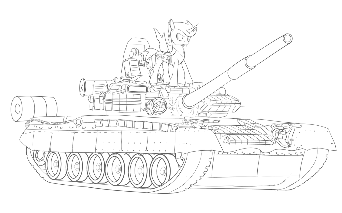 Commission: Wildcard on a T-80BV by Jordo76