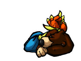 Banjo-Kazooie Nap by TheLittleBlueBird
