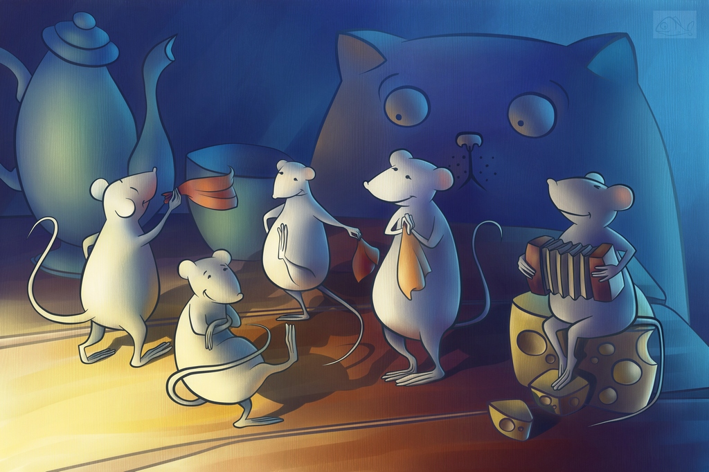 Поговорка кот из дома мыши в пляс