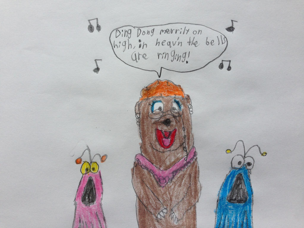 Flo Bear Singing Ding Dong Merrily on High by nintendolover2010 on