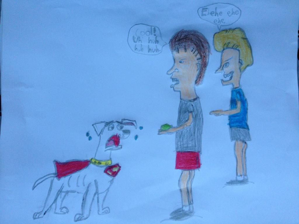 Beavis and Butt-head Meet Krypto the Superdog by nintendolover2010