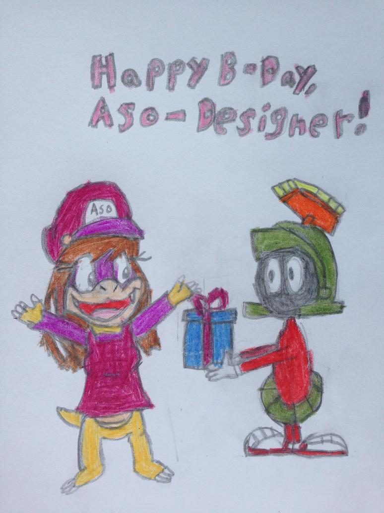 Happy Birthday, Aso-Designer!!! by nintendolover2010