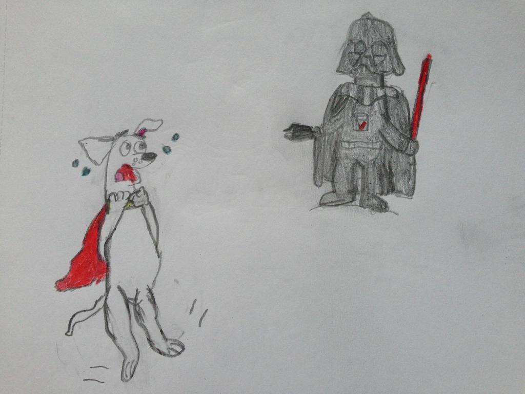 Darth Vader Meets Krypto the Superdog by nintendolover2010