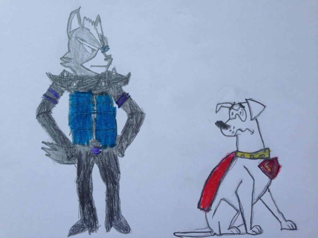 Wolf O'Donnell Meeting Krypto by nintendolover2010