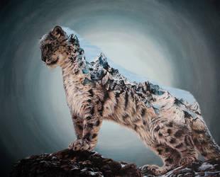 Snow Leopard double exposure by jkclayton
