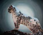 Snow Leopard double exposure