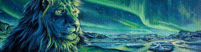 Lion in Aurora by jkclayton