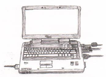 My laptop - sketch