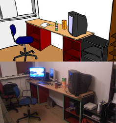 My room vector simplified