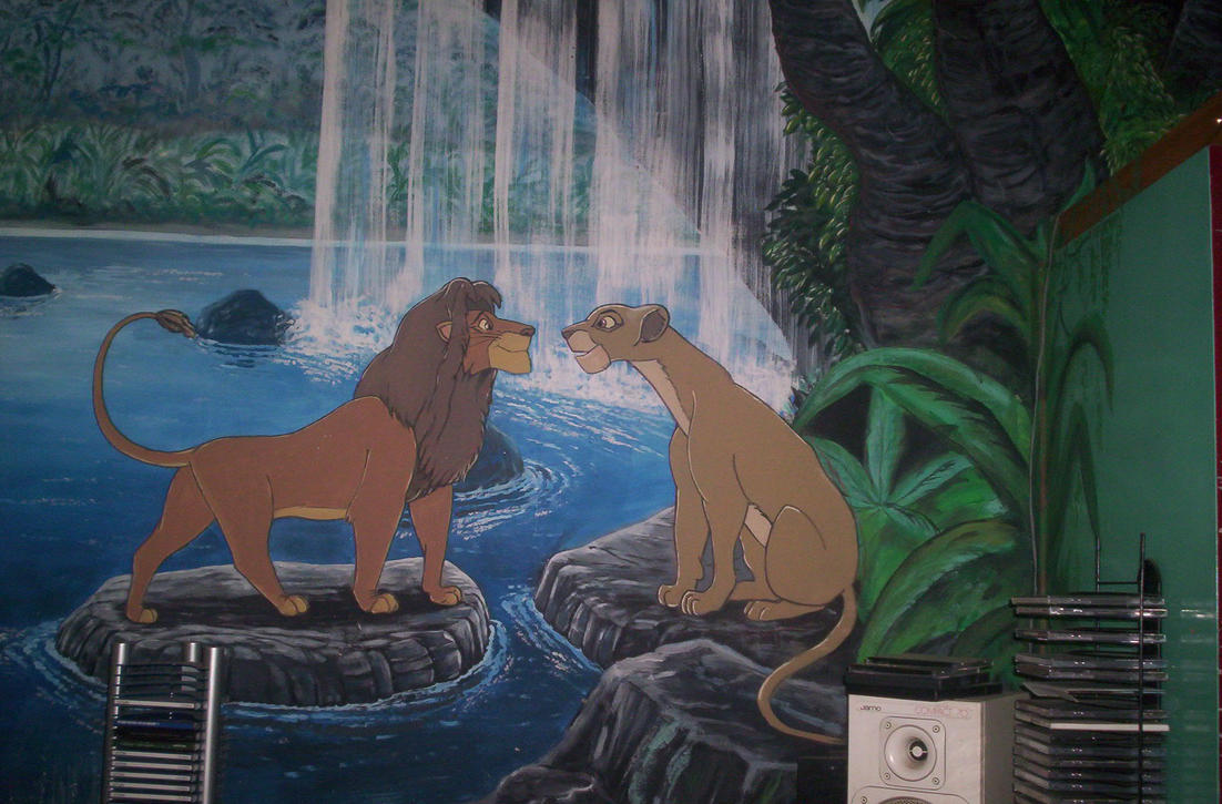 Large Lion King Wall Painting by DaVince21