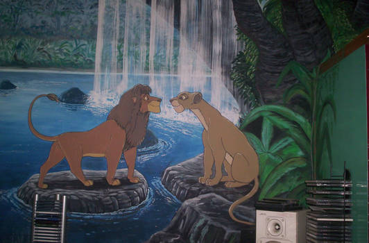 Large Lion King Wall Painting