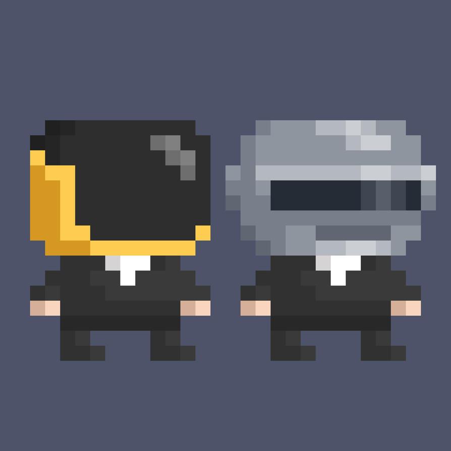 -Daft Punk Pixelart by WaeSyndrome