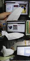Excalibur helmet papercraft in progress #2