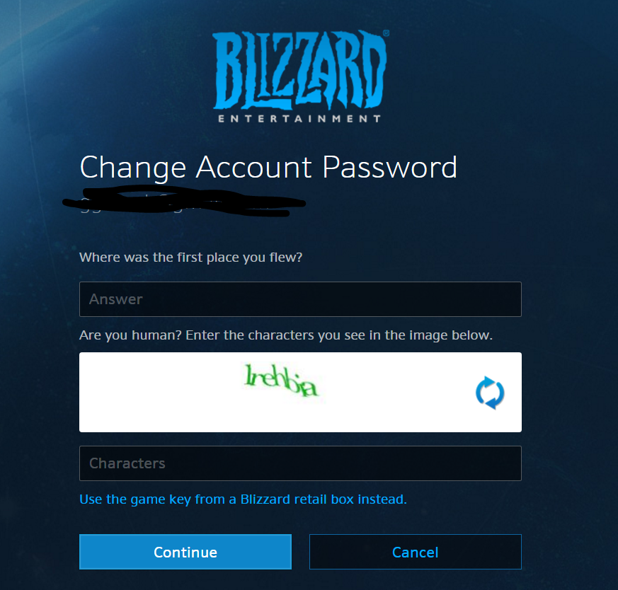 A stranger used my email address to register on Blizzard