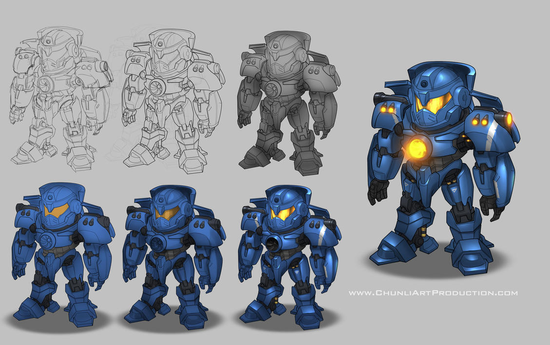 Gipsy Danger SD Robot by thiennh2