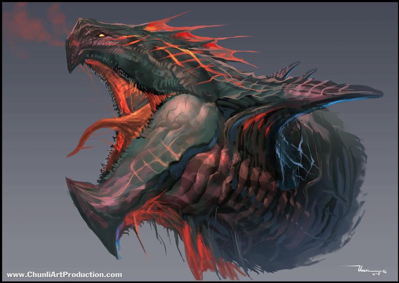 Dragon head #1 by thiennh2