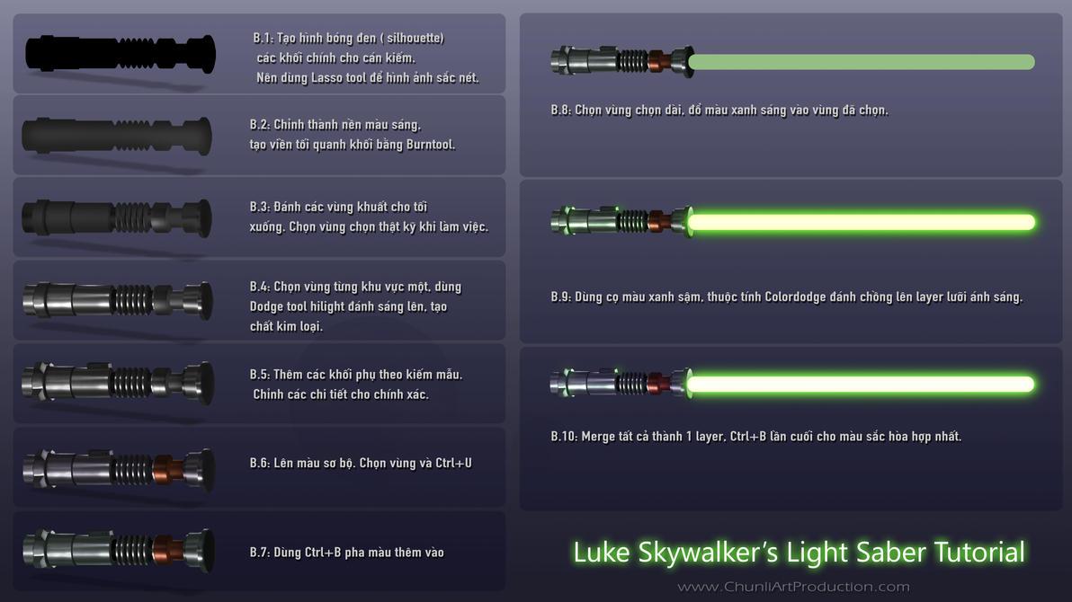 Luke Skywalker's Light Saber Tutorial by thiennh2