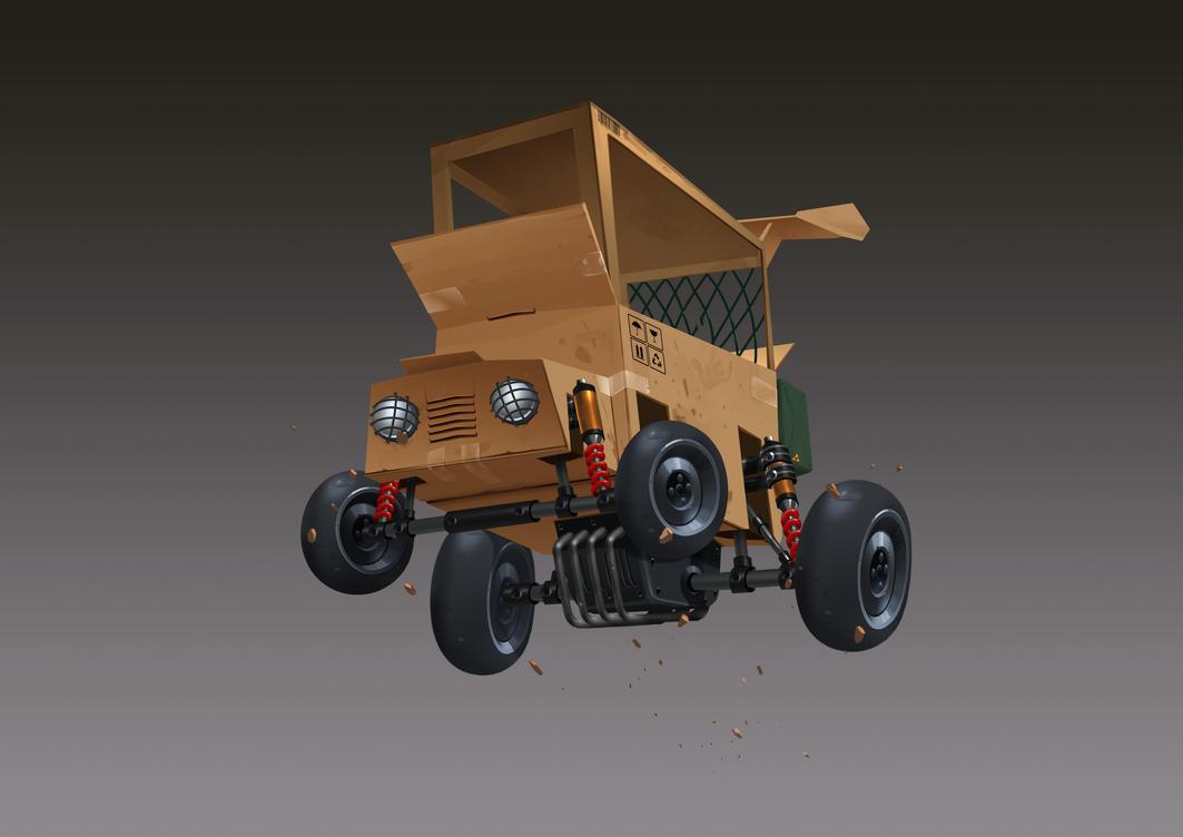 Carton box Racing Car by thiennh2