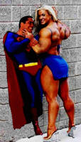Superman's just kind of a wall hanger now...