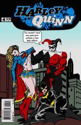 Harley Quinn beats up supergirl and batgirl...