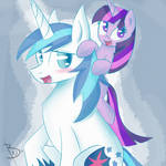 Shining Armor and Filly Twilight Sparkle