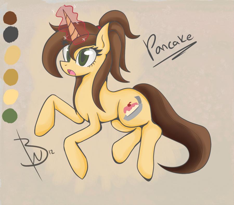 Pony OC Pancake by BlacksWhites