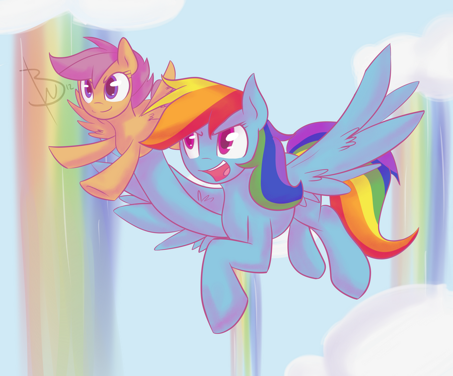 Under her Wing by BlacksWhites