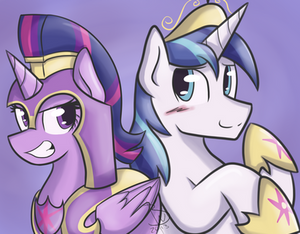 Twilight Armor and Shining Sparkle