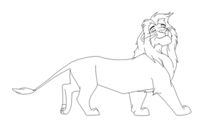 Lineart Simba Hakuna Matata