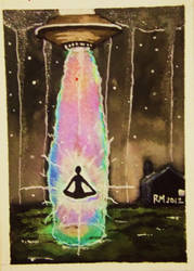 Astral Abduction ACEO by ImagineArtVibes