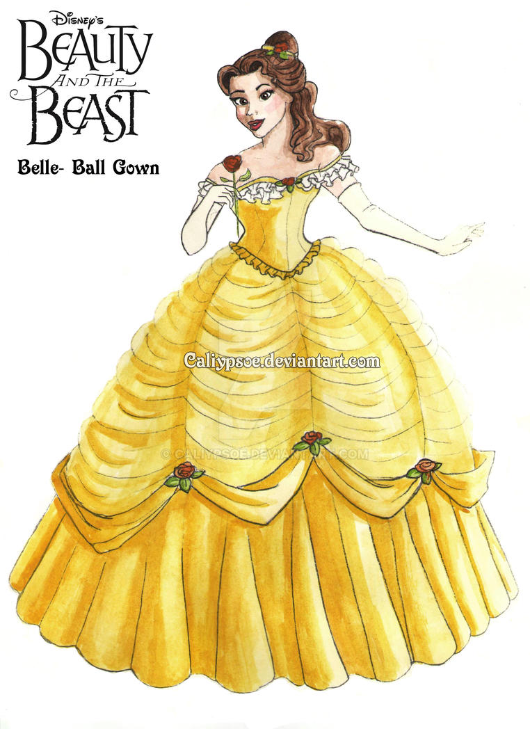 Belleu0027s Ball Gown Costume Rendering by Caliypsoe ...  sc 1 st  DeviantArt : belle gown costume  - Germanpascual.Com