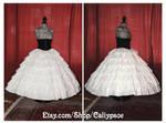Seven Tiered Ruffle Petticoat 1850's-60's