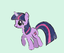 Twilight Sparkle Walk Cycle Color by VexPon