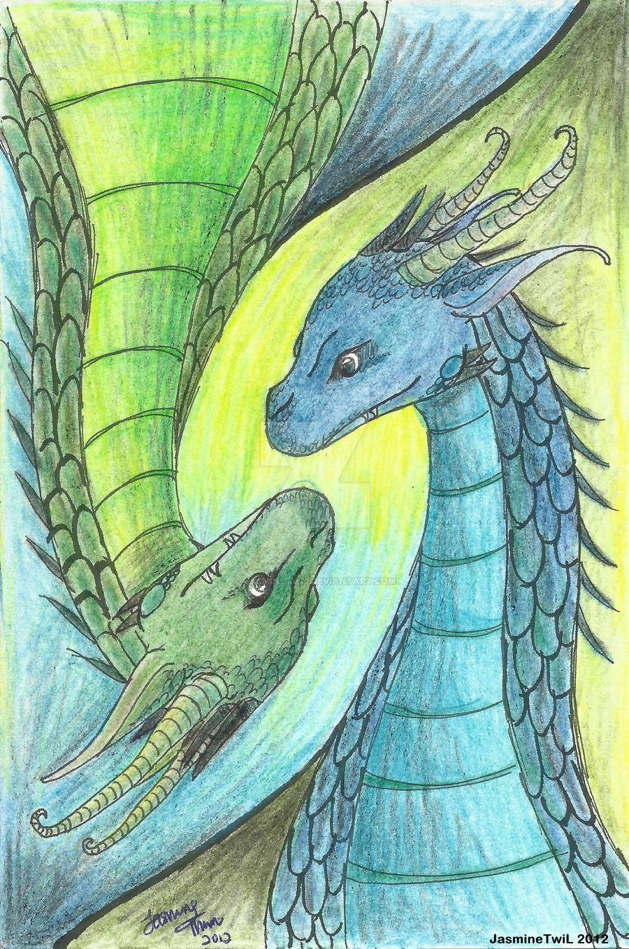 Saphira And Firnen By JasmineTwiL On DeviantArt