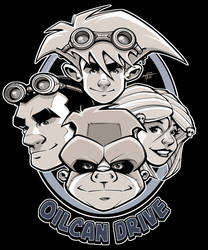 OilCan Drive T-Shirt Art - Variant by OilCanDrive