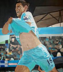 Sergio Aguero - 93:20