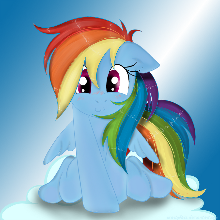 Rainbow dash on a cloud by martybpix on deviantart for Fish sucking dick