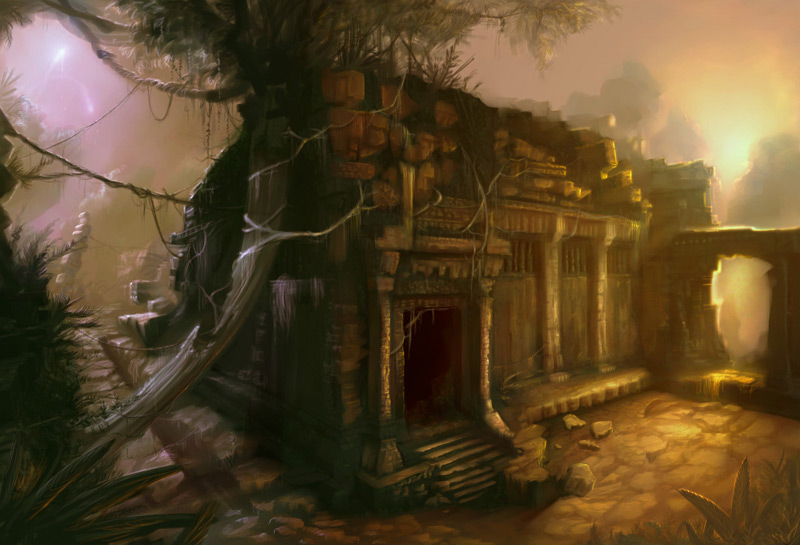 Aztec Temple by rmalbon