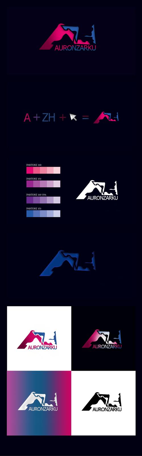Auron Zharku - logo by azh-zharku